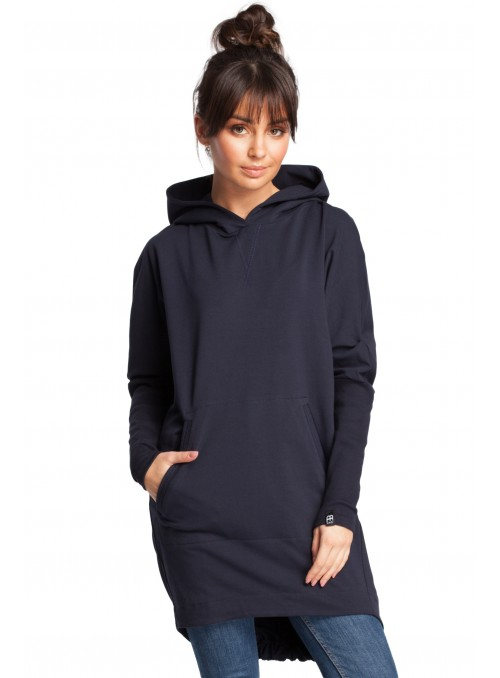 Švelnus tamsiai mėlynas megztinis