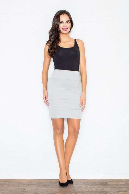 Trumpas pilkas sijonas