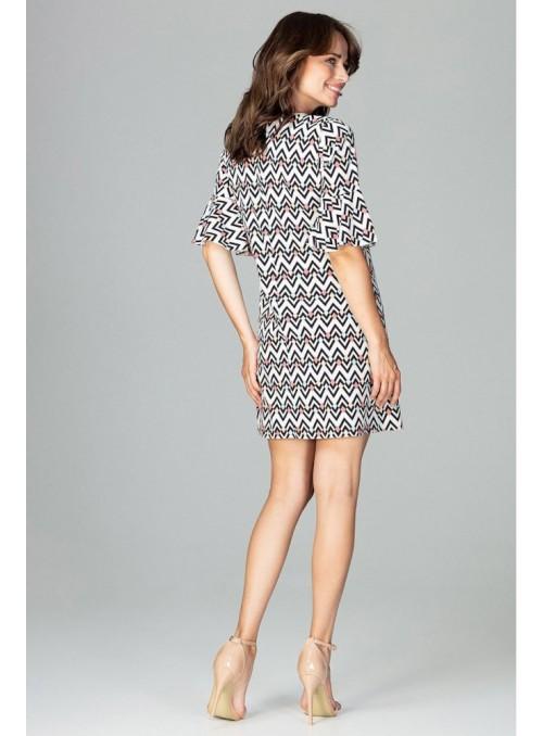 Stilinga raštuota suknelė