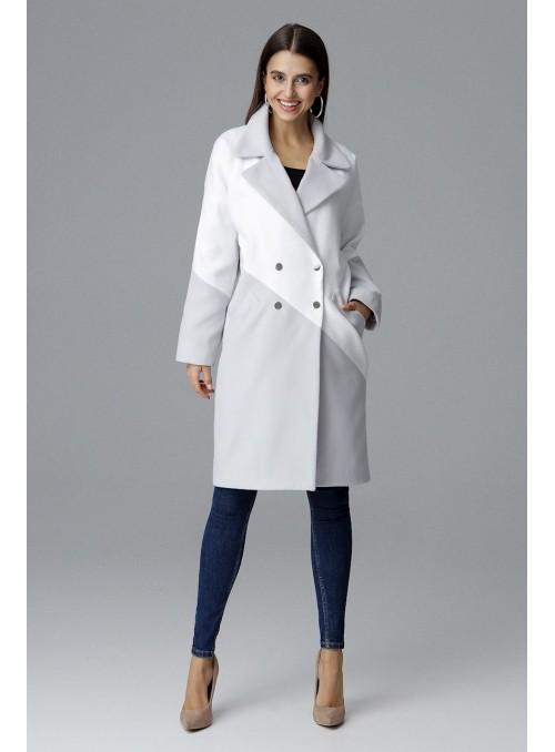 Coat M626 Grey-White
