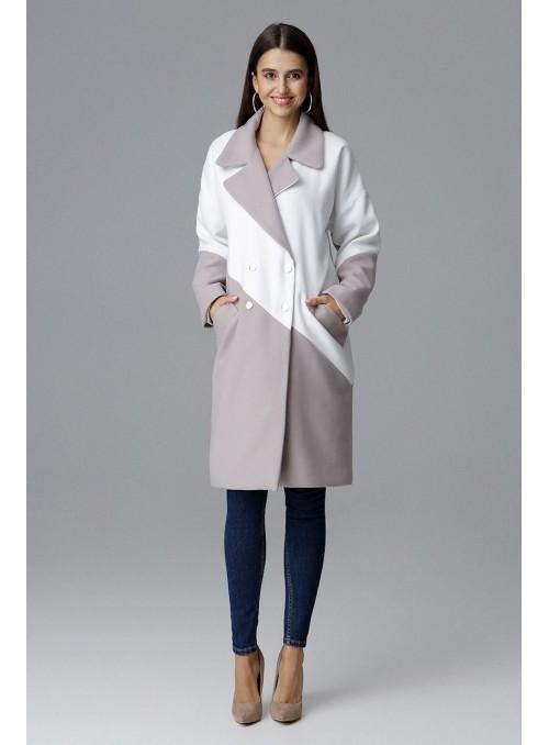 Coat M626 Beige-White